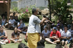 Samoan Program students participate in the Samoan and Pacific Islander Cultural day at the Samoan Cultural Gardens